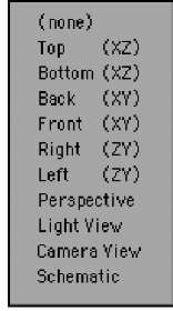 Click the list at the top of the Layout viewport to change which view you work in.