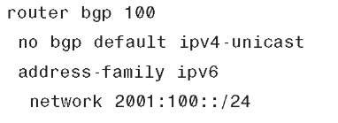 BGP for IPv6 Configuration on IOS