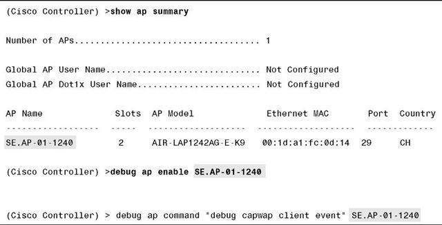 AP Debugs (Debugging Commands) (Cisco Wireless LAN Controllers)