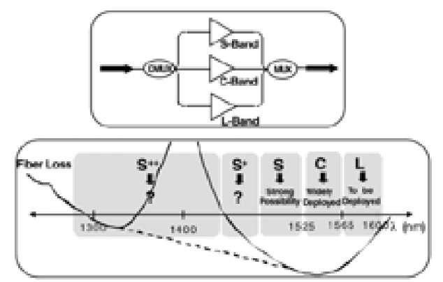 Wavelength Domain Multiplexed (WDM) Fiber-Optic