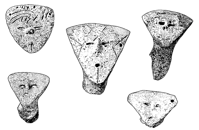 Representations of human faces in the Neolithic sequence of the Great Hungarian Plain: parts of vessels from the AVK site of Fuzesabony-Gubakut.