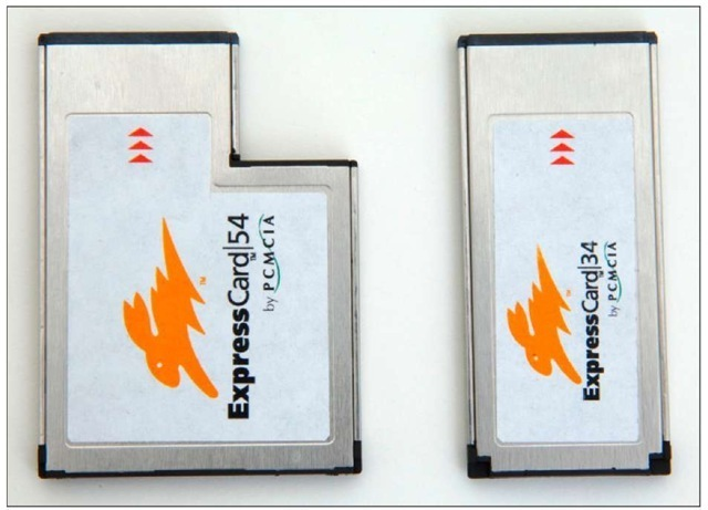PC Card and PC ExpressCard compared.