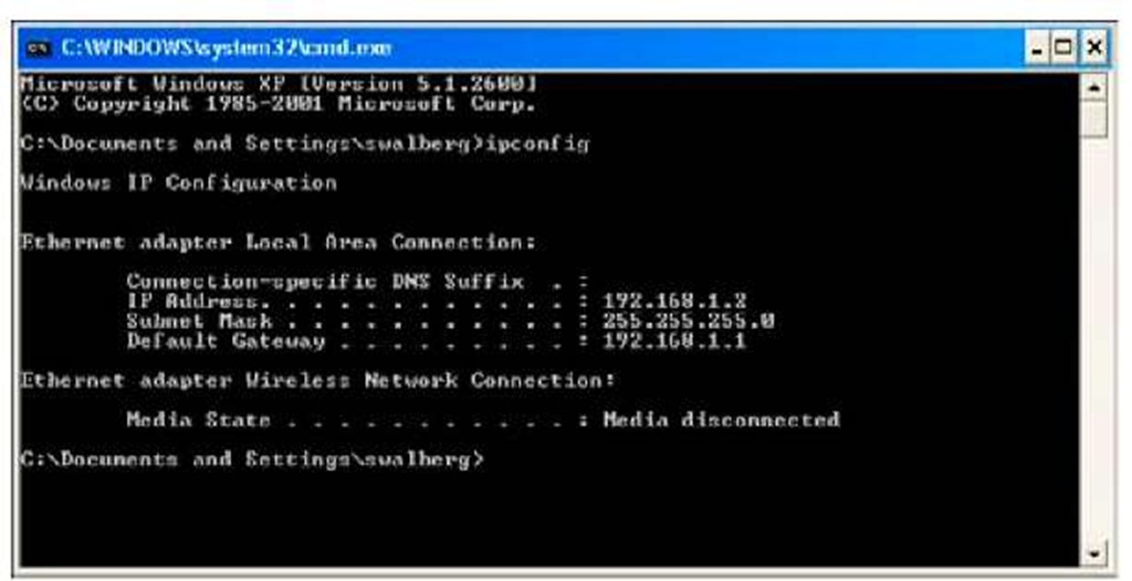 Determining your IP address and gateway.