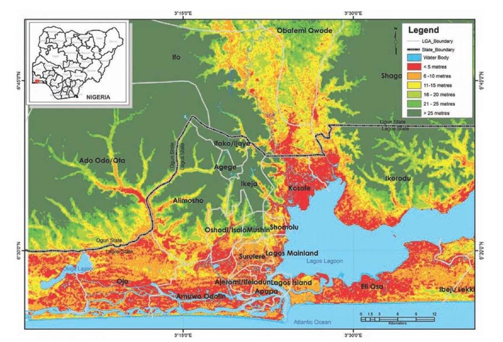 Lagos topography.
