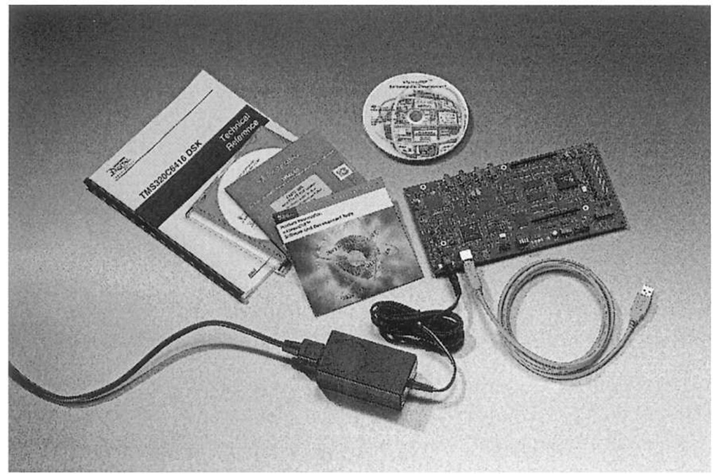C6416 DSK (image courtesy of Texas Instruments). In its nominal form, connecting the DSK to the host is simple: there is a power cord that connects to the board and a USB cable to runs from the board to the USB port on the PC.