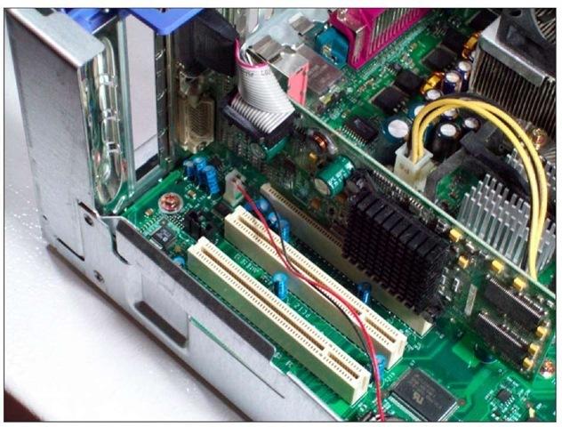 PCI slots in a standard desktop.