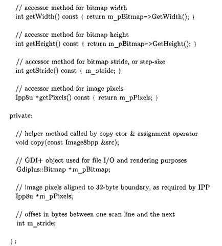 Listing3-7: Image8bpp.h