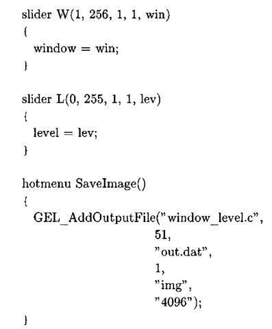 Listing 3-11: window_level. gel