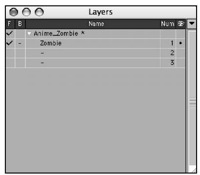 Additional controls are available in the Layers panel.