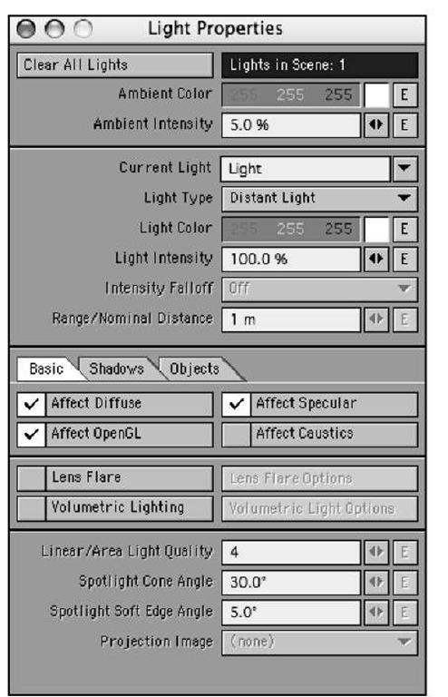 Working with Lights (Lighting) (LightWave v9)