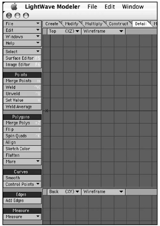 The Detail tab provides quite a few tools that let you make specific changes to points and polygons within your models.