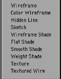 Each viewport can also have a unique viewport style, such as Wireframe or Textured Wire.