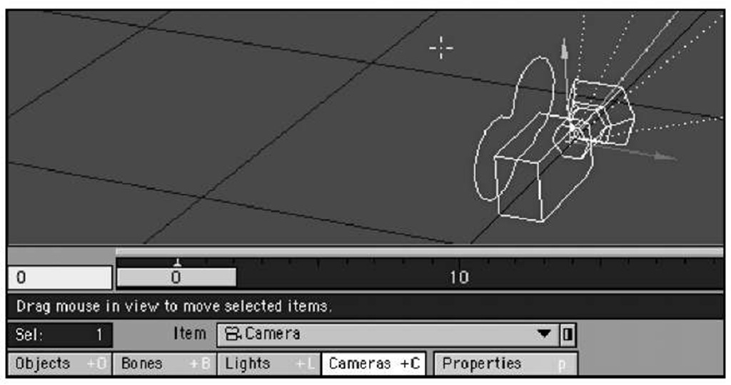 Tell LightWave Layout that you want to work with cameras by selecting the Cameras button at the bottom of Layout.