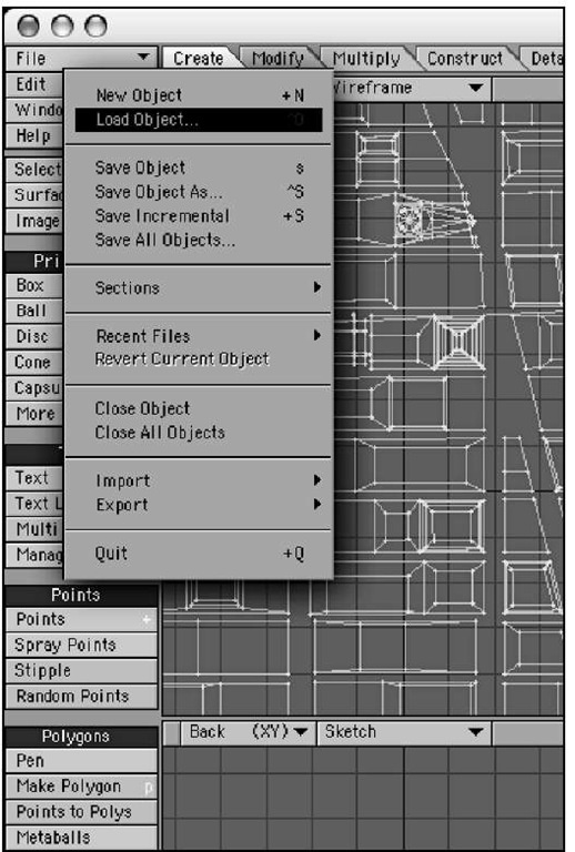 Using the File drop-down menu in Modeler, you can load, save, and perform similar operations.