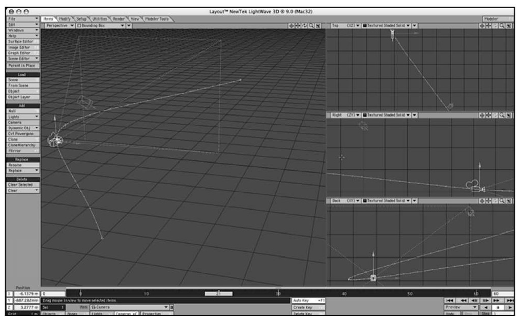 Pressing the F3 key cycles you through LightWave Layout's available viewport arrangements.