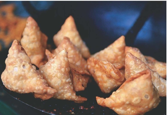 Piping hot samosas have been a favorite Indian snack for centuries.