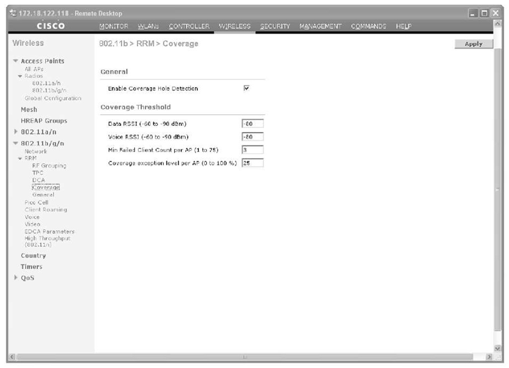 Configuring RRM (Cisco Wireless LAN Controllers)