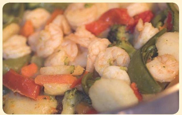 Garlic shrimp is made from Spain's plentiful shrimp supply.