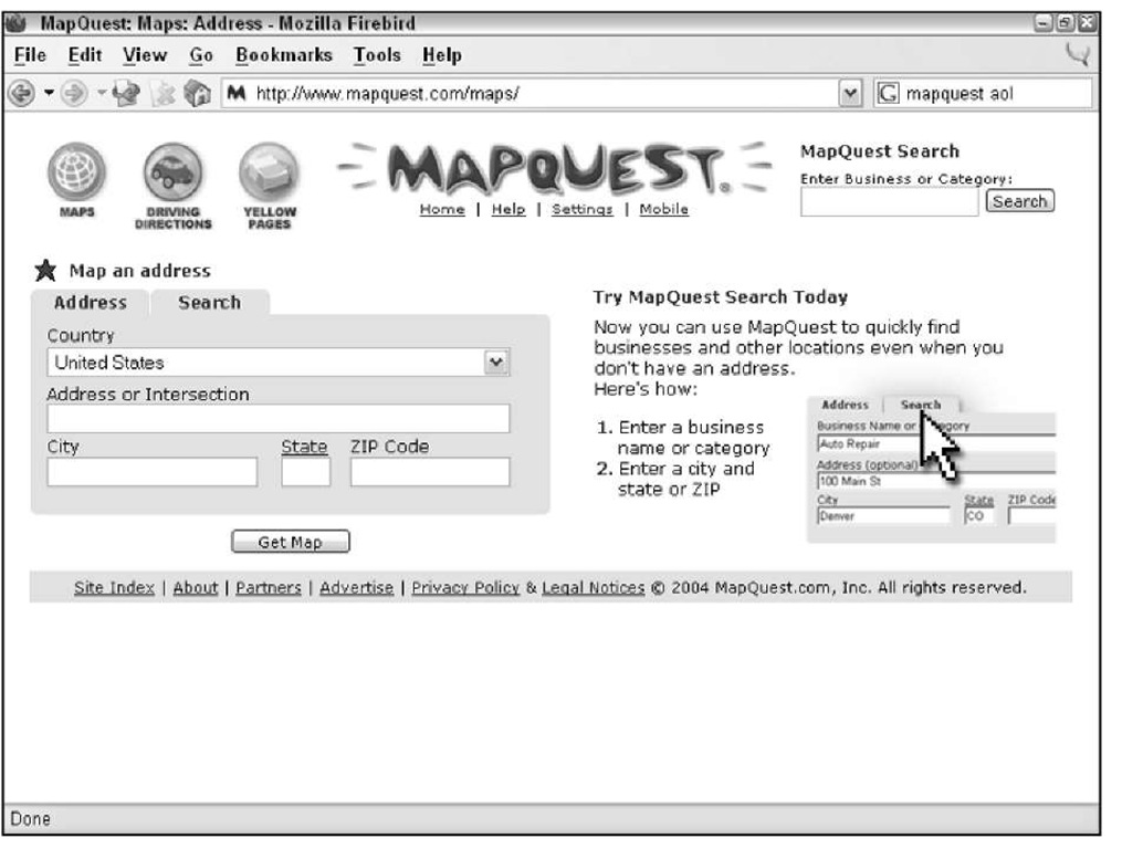 Mapquest Australia.Reviewing Street Map Web Sites Gps