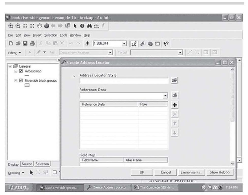 Creating an address locator