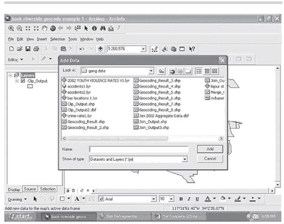 Adding a new layer in ArcMap