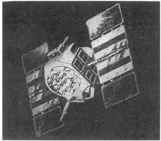 A NAVSTAR GPS satellite.