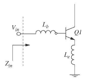 Common emitter amplifier with emitter degeneration