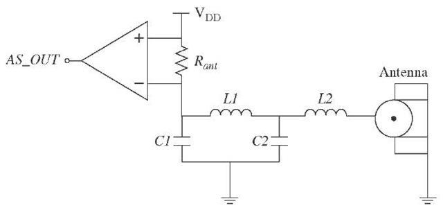 Antenna sensor circuit