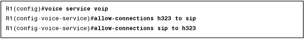 H.323-to-SIP Interworking
