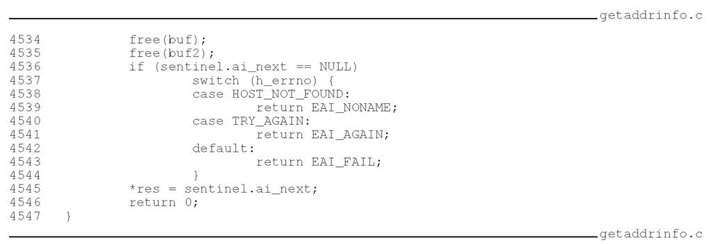 null error code