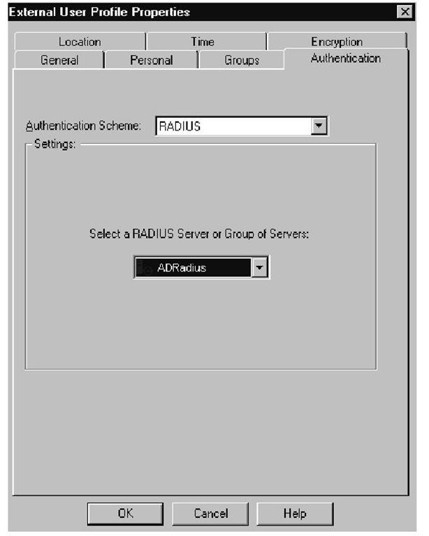 RADIUS (Advanced Authentication) (Check Point)