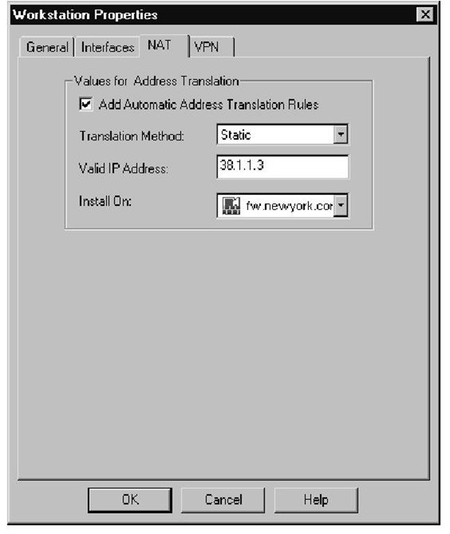 Web Server NAT