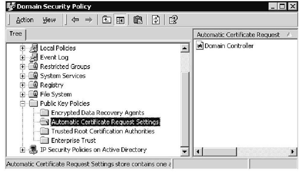 Active directory advanced authentication check point part 4 displaying automatic certificate request settings yadclub Gallery