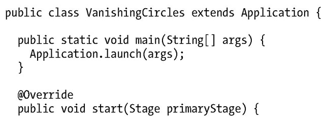 Vanishing Circles Application Written in Imperative Java Style
