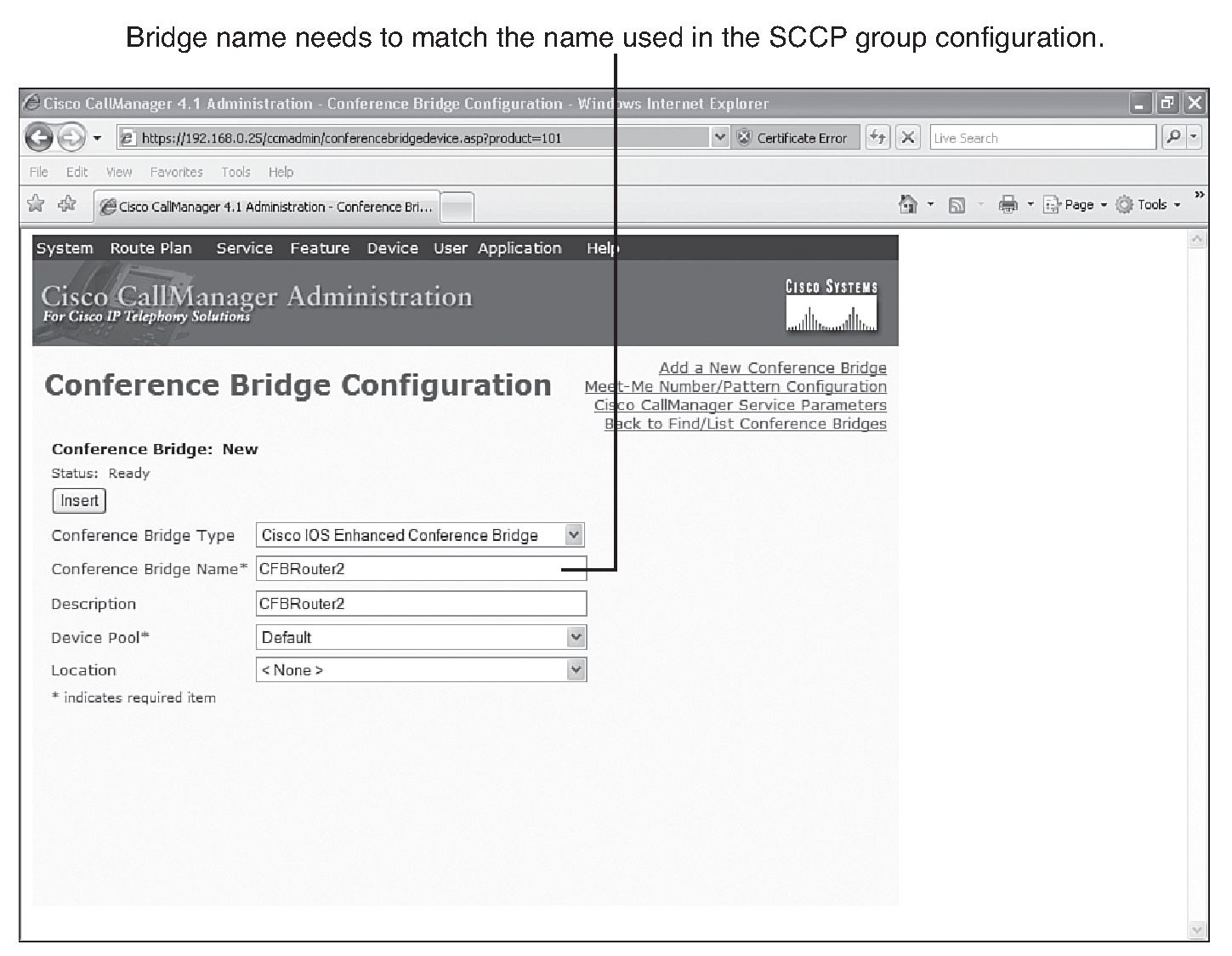 Configure conference bridge cisco cme software