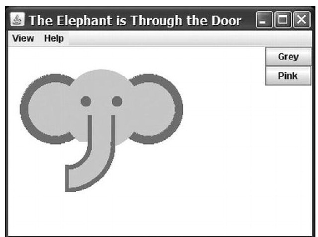 "Screenshot for the ""Elephant Is Through the Door"" program"