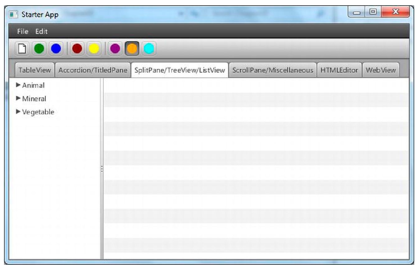 Trying Out the JavaFX UI Controls (Using the JavaFX UI Controls)