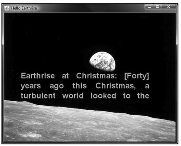 The Hello Earthrise program