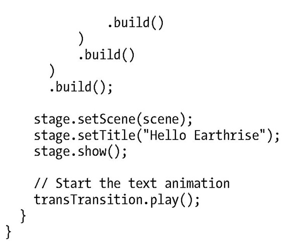 The HelloEarthRiseMain.java Program