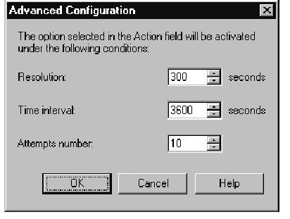 Successive Events Advanced Configuration