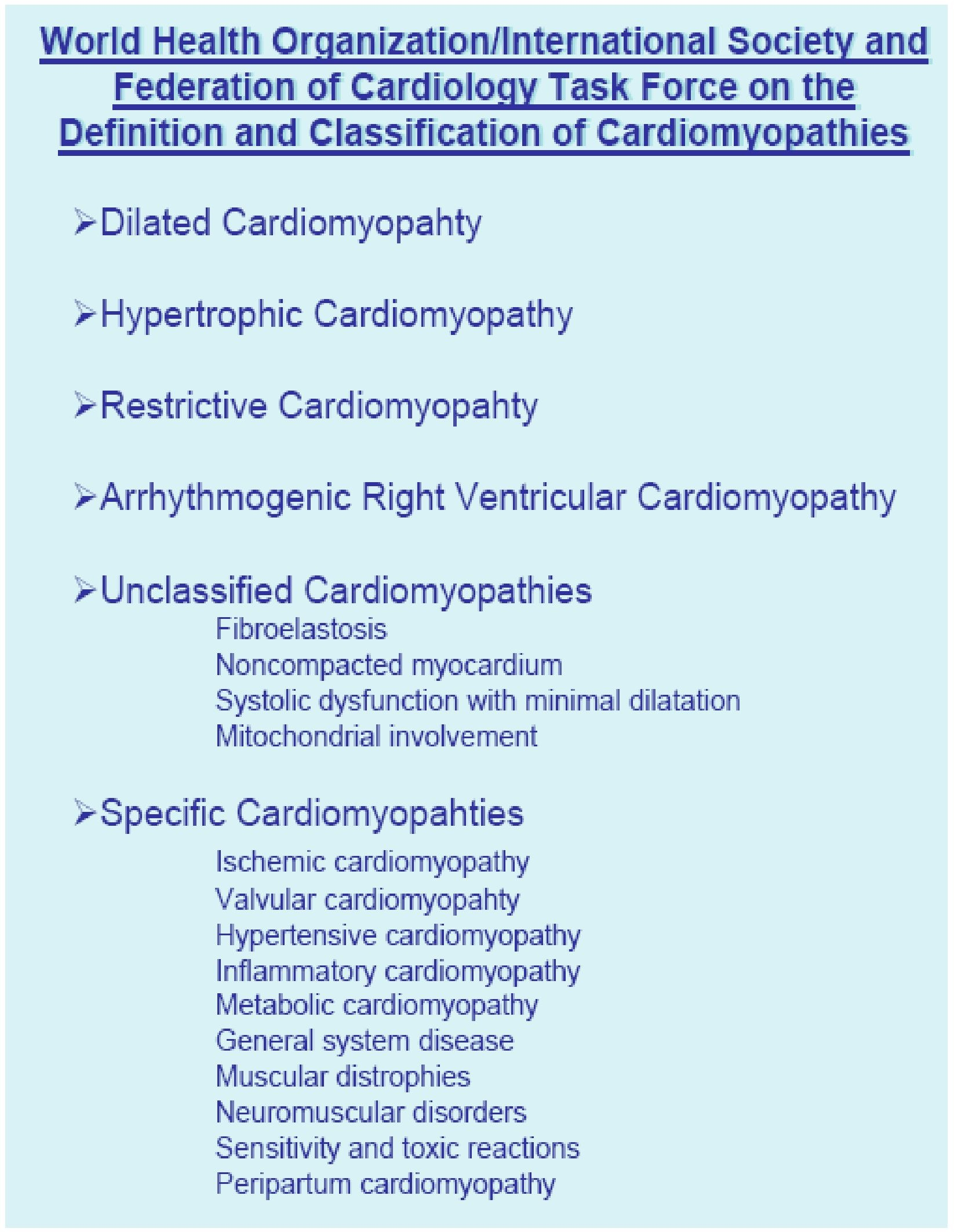 Diagnosis of Cardiomyopathies and Rare Diseases: From