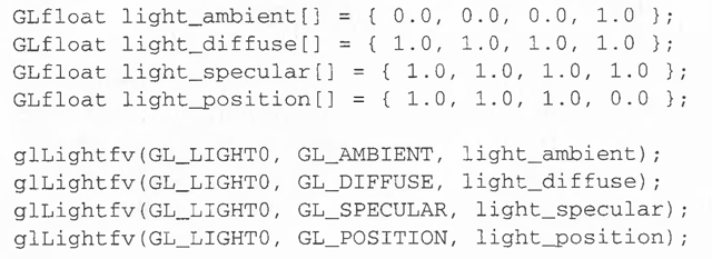 Creating Light Sources Opengl Programming