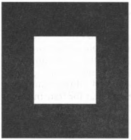 White Rectangle on a Black Background