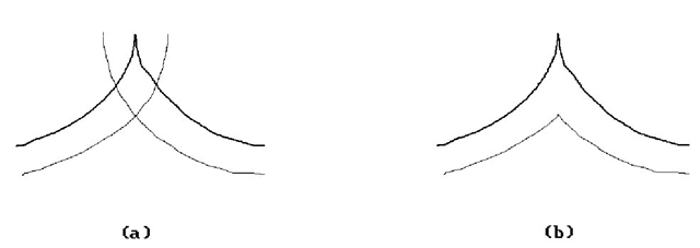 Offset curves when there are cusps.