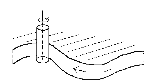 Offset curve generated by two-axis NC machine.