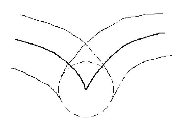 A milling machine offset curve problem.