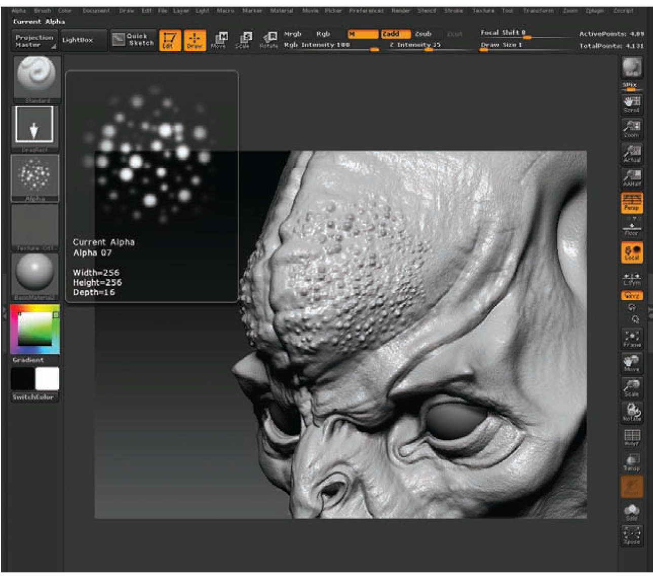 Alphas (ZBrush for Detailing) (ZBrush Character Creation) Part 1
