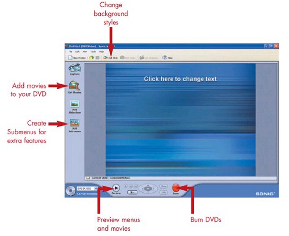 Sonic MyDVD for DVD Authoring