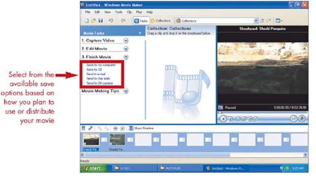Options for Saving Movies in Movie Maker