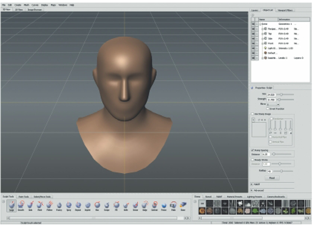 Select the Basic Head from the Dialog Box.